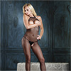 Leg Avenue Open Kruis en Bust Fishnet Bodystocking