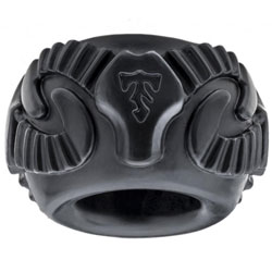 Perfecte Fit Tribal zoon Ram Ring Zwart